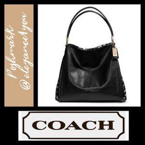 ✨COACH✨NWOT Snakeskin Embossed Leather Bag